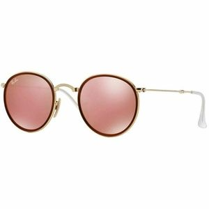 Ray-Ban Round Sunglasses W/Brown Pink Mirror Lens